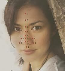 Titik Terapi pada garis tengah Hidung