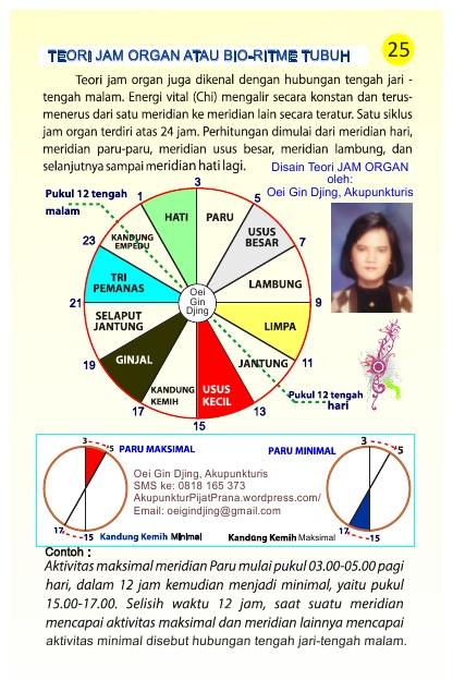 Teori Jam Organ Tubuh-oleh Oei Gin Djing, Akupunkturis
