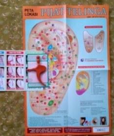 Peta Lokasi Pijat Telinga karya Oei Gin Djing, Akupunkturis